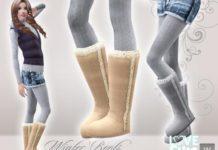 Моды на зимнюю обувь в СИМС 4