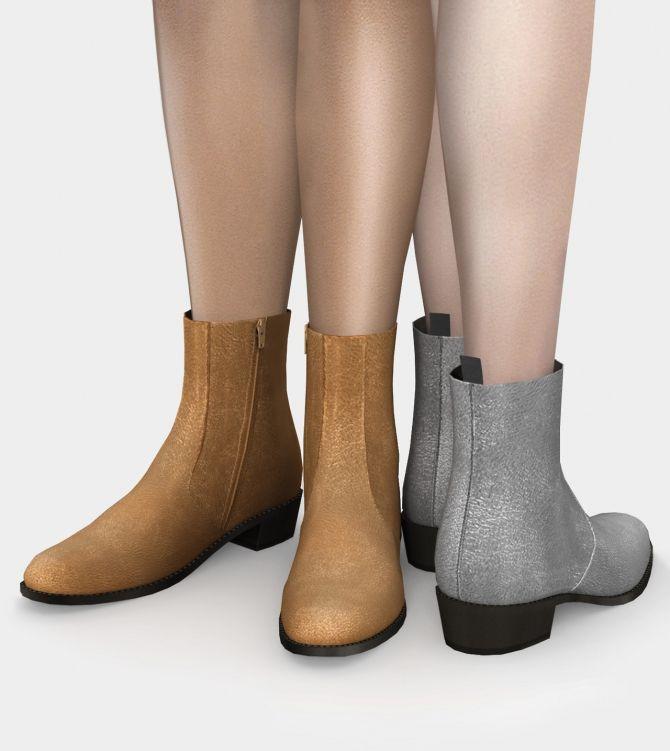 Полусапожки Saint Laurent Chelsea Boots Sims 4