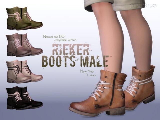 Мужские ботинки RIEKER Boots NORMAL+HQ COMPATIBLE для мужчин Sims 4