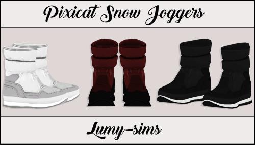"сапоги ""PIXICAT SNOW JOGGERS"" sims 4"