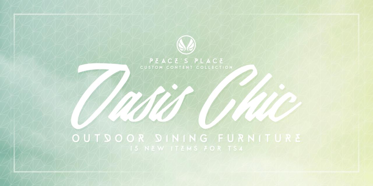 """Набор для внутреннего дворика """"OASIS-CHIC DINING"""""""