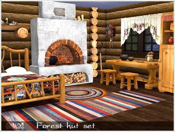 Набор мебели и декора Forest hut от Severinka The sims 4 Симс