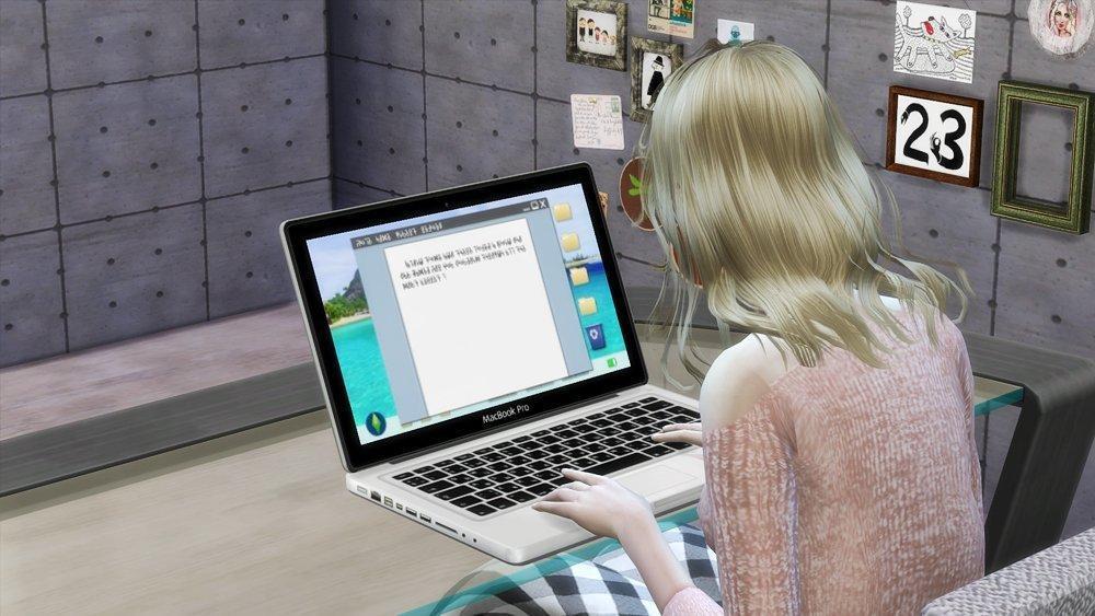 Макбук Про от PauleanR для Sims 4