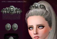 Набор аксессуаров с черепами от Ersel для Sims 3
