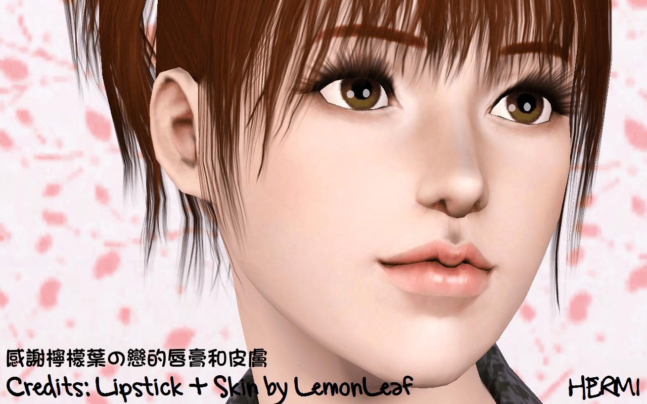 Слайдеры для губ от Hermi для Sims 3