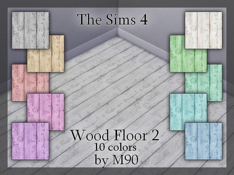 Набор деревянных полов от Mircia90 для Симс 4