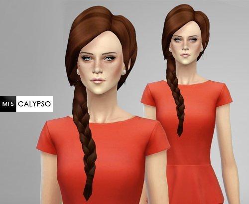 Прическа Calypso от MissFortune для Sims 4