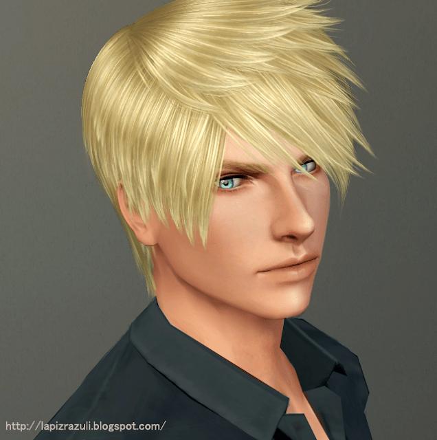 Мужская прическа №5 Djinn от Lapis Lazuli для Sims 3