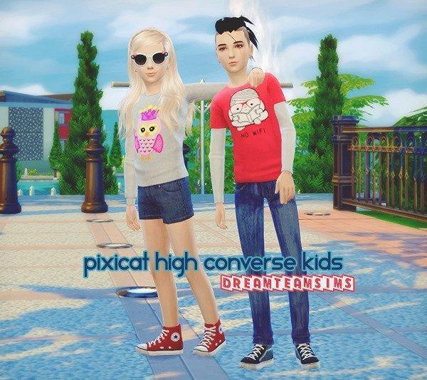 Скачать Кеды CONVERSE от dreamteamsims для Sims 4