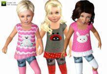 "Костюм для девочки ""Мисс Солнышко"" от lillka для Sims 3"