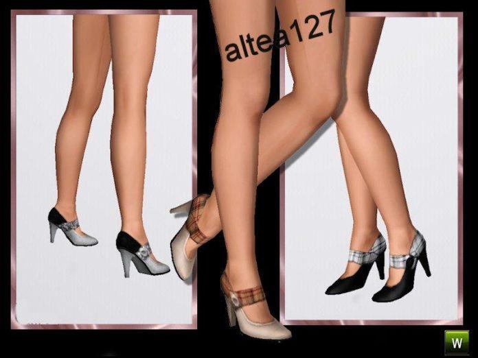 Набор закрытых туфлей на высоком каблуке от altea127 для Симс 3