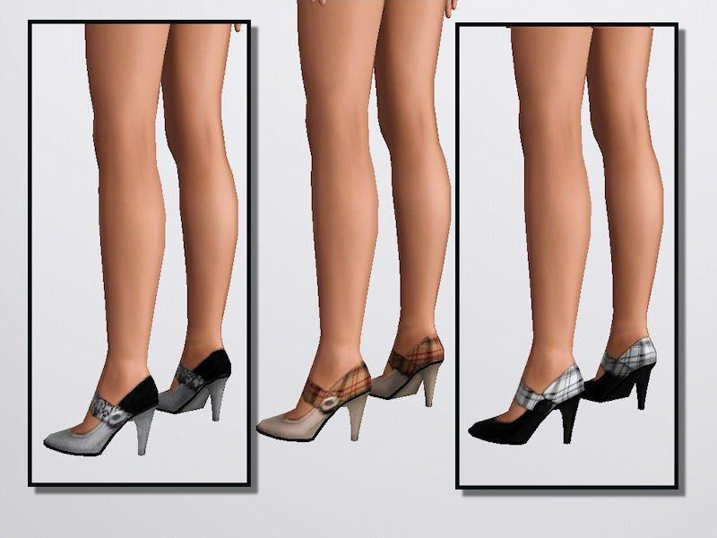 Набор закрытых туфлей на высоком каблуке от altea127 для Симс 3 Sims 3