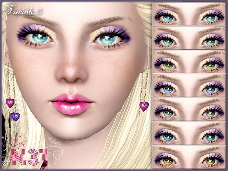 Глаза от TsminhSims для Sims 3
