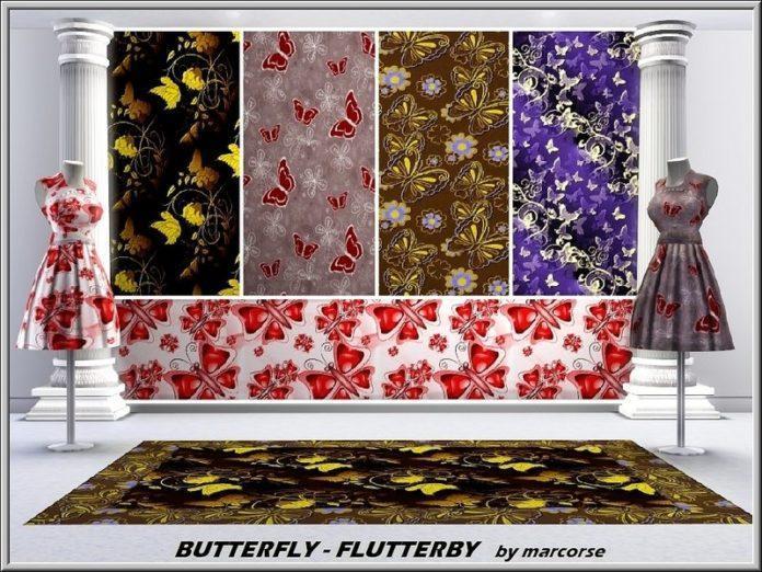 Паттерны с бабочками от Marcorse для Симс 3