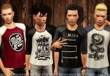 Подростковые кофты с рукавом 3/4 от Black Lily для Sims 3