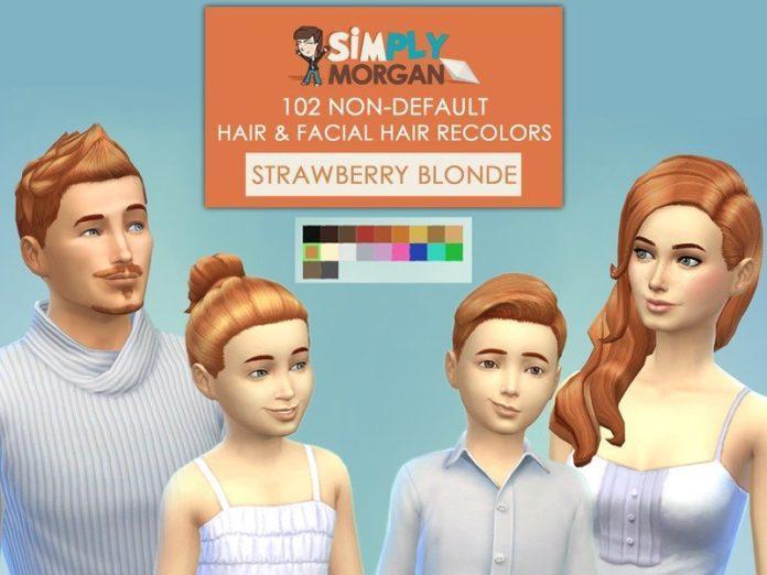 Перекраски волос для всех возрастов от SimplyMorgan77 для Sims 4