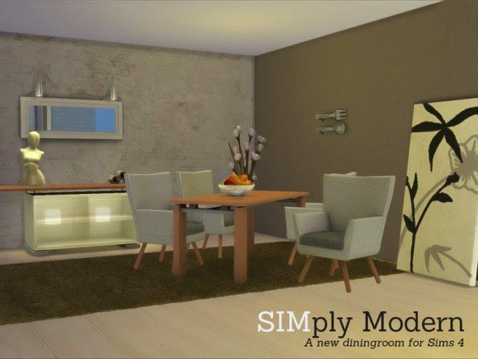 Столовая SIMply Modern от Angela для Симс 4