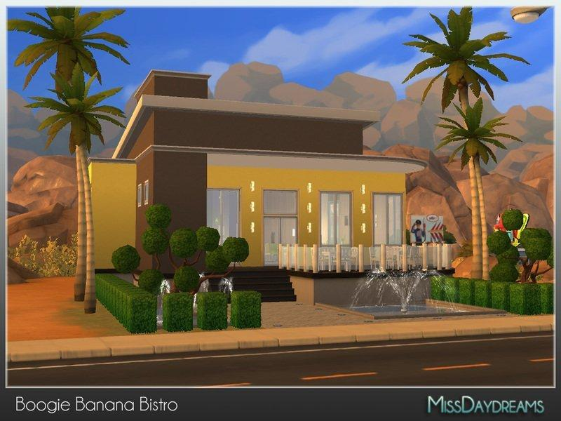 Бистро Boogie Banana от MissDaydreams для Sims 4