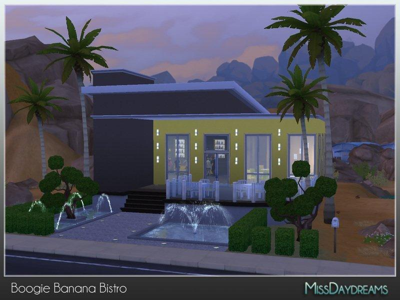 Бистро Boogie Banana от MissDaydreams для Sims 4