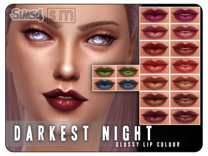 Губная помада Darkest Night от Screaming Mustardдля Sims 4