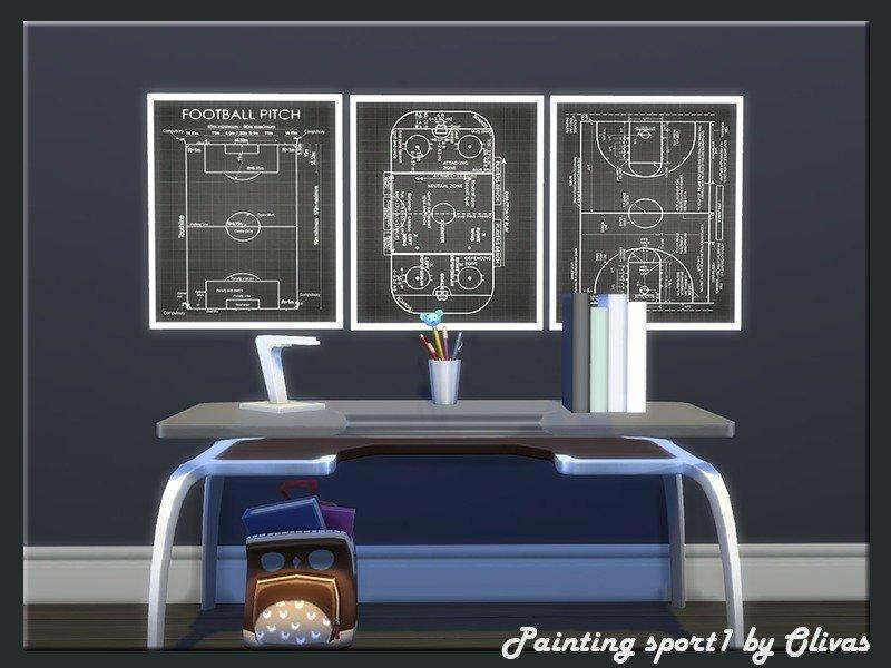 Набор подростковых постеров от olivas2 для Sims 4