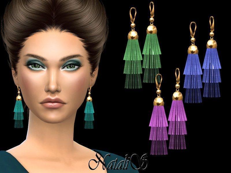 Серьги Tiered Tassel от NataliS Sims 4