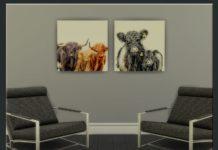 Скачать Картины с коровами от olivas2 для Sims 4