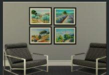 Картины пейзажи от olivas2 для Sims 4