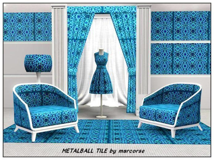 Паттерн Metalball Tile от marcorse для Sims 3
