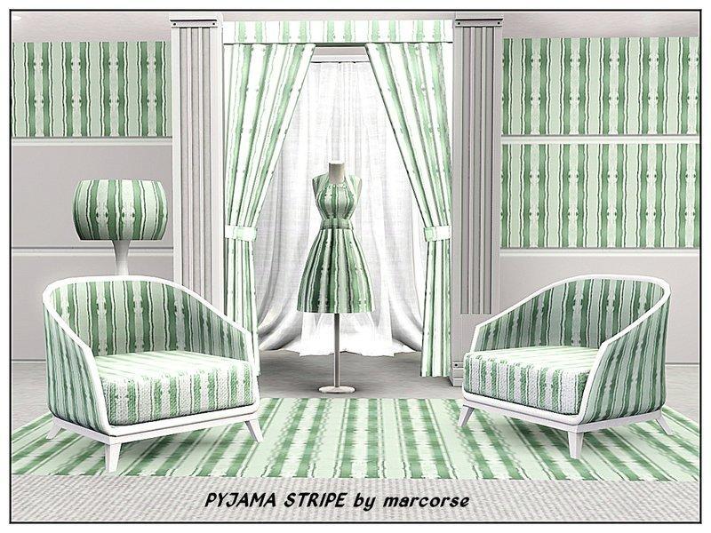 Паттерн Pyjama Stripe от marcorse для Симс 3