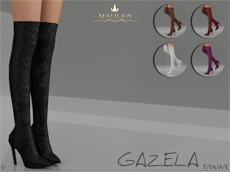 "Мод на сапоги ""GAZELA"" sims 4 для женщин"