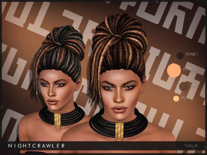 Прическа Nala (дреды) от Nightcrawler для Sims 3
