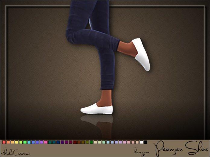 Туфли на плоской подошве от MahoCreations для Симс 4