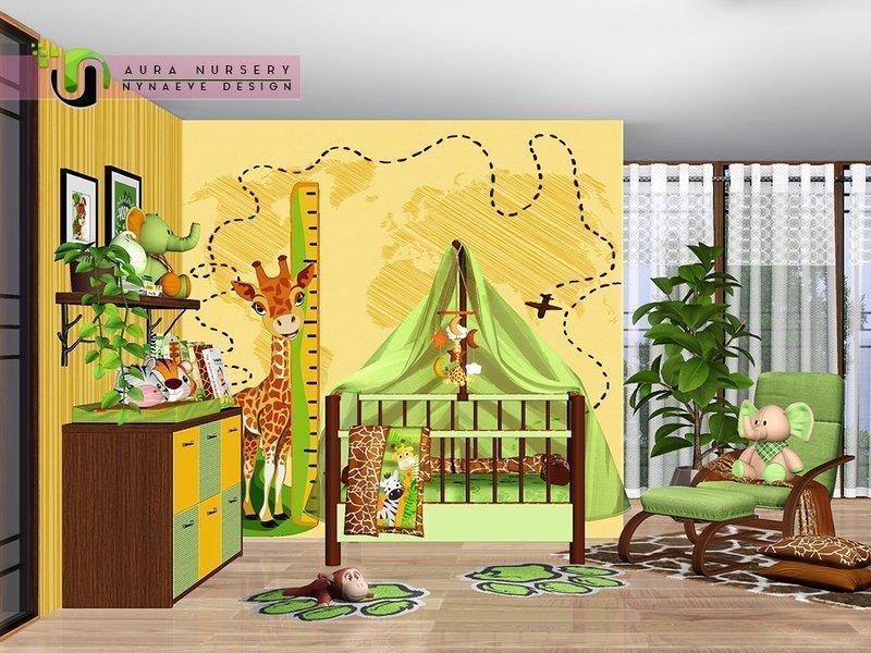 "Детская комната ""Савана"" от NynaeveDesign для Sims 3"