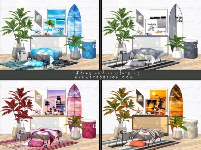 Набор декора для спальни Erin Bedroom от NynaeveDesign Sims 4