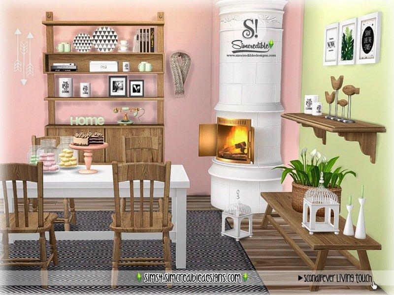 Набор декораций для столовой ScandiFever от SIMcredible SIMS 4