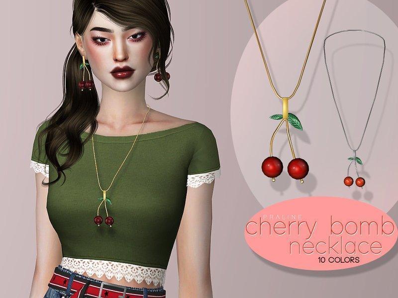 Подвеска Cherry Bomb от Pralinesims для Sims 4