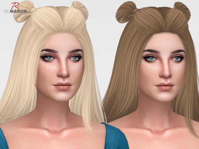 Прическа Spice (перекраска) от remaron для Sims 4
