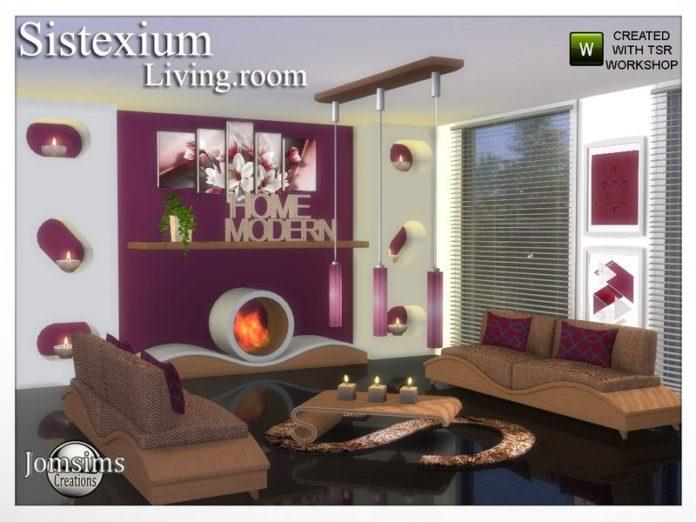 Гостиная Sistexium от jomsims Sims 4