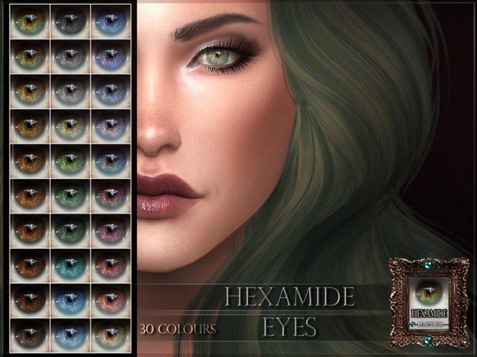 Линзы Hexamide Eyes от RemusSirion для Sims 4