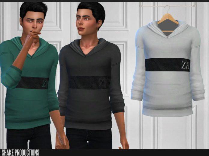 Толстовка для подростков от ShakeProductions для Sims 4