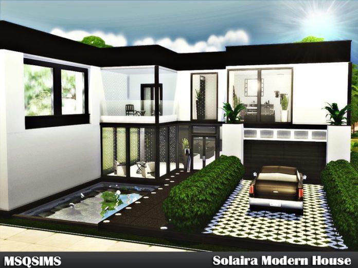 Современный одноэтажный дом Solaira от MSQSIMS для Sims 4
