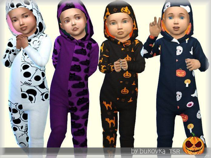 Детские комбинезоны для Хеллоуина от bukovka для Sims 4