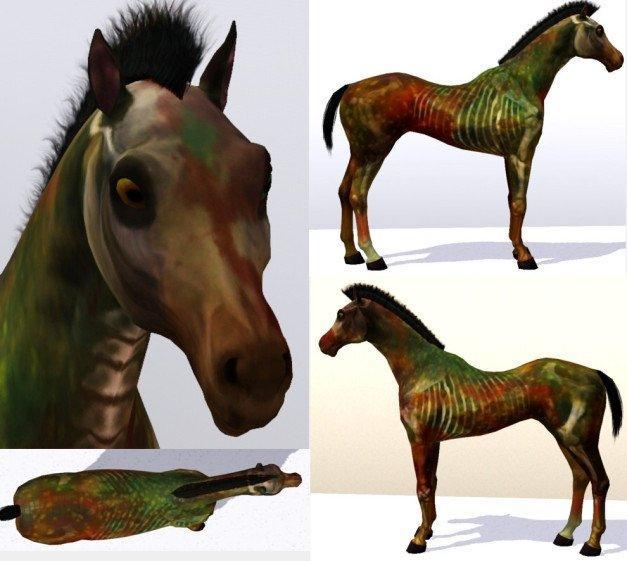 Животные-зомби от Simprovposes для Sims 3