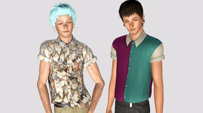 Мужские рубашки от Simt0rr для Sims 3