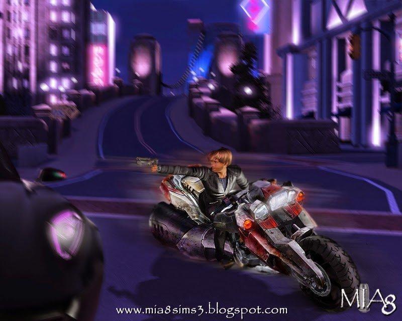 Позы с мотоциклом и пистолетом от Mia8 для Симс 3