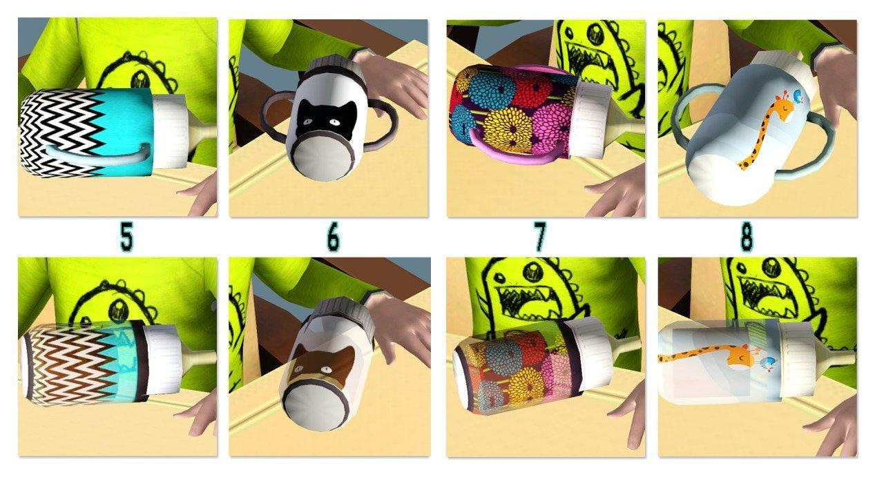 Дефолтные бутылочки от mspoodle1 для Sims 3