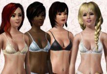 Атласный бюстгальтер от simromi для Sims 3