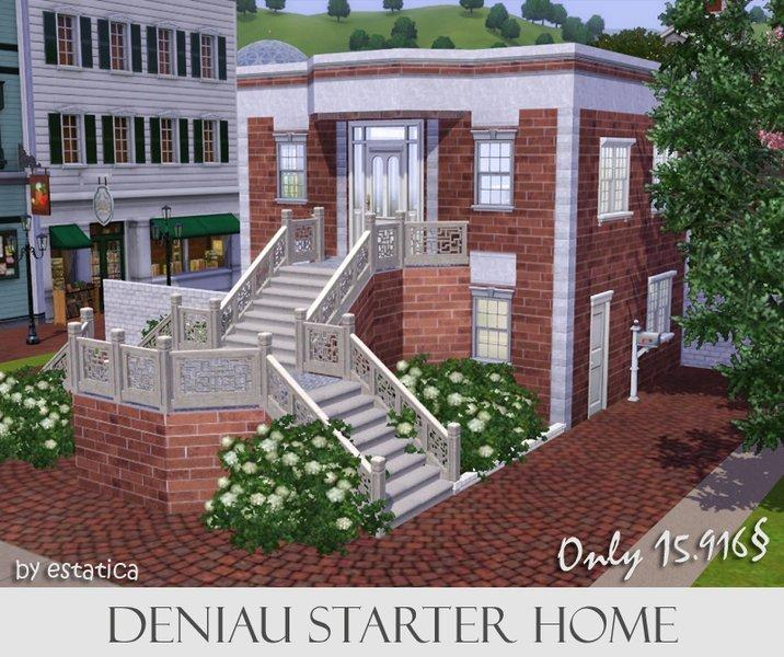 """Маленький стартовый дом """"Деньо"""" от estatica для Sims 3"""