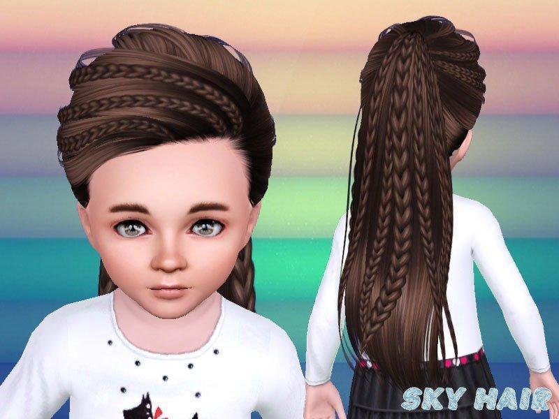 Детская прическа №243 от Skysims для Sims 3
